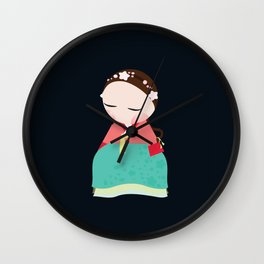 Little korean doll Wall Clock