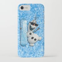 olaf iPhone & iPod Cases featuring SNOW MAN OLAF by BeautyArtGalery