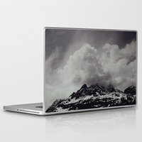 backpack Laptop & iPad Skins featuring Mountainscape Black and White by Leah Flores
