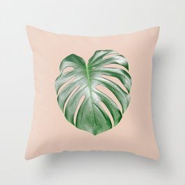 Monstera Dream #2 #tropical #decor #art #society6 Throw Pillow