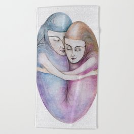 absolute togetherness Beach Towel