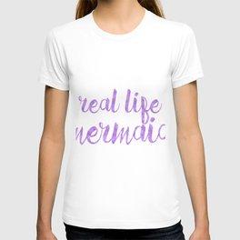 Real Life Mermaid in Purple T-shirt