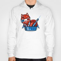 mew Hoodies featuring Doctor Mew by harebrained