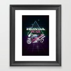 80s Motorcycle Poster Framed Art Print