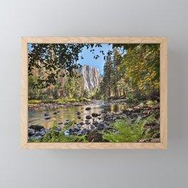El Capitan Fall Colors And Merced River 10-20-18  Framed Mini Art Print