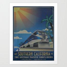 Vintage poster - Southern California Art Print