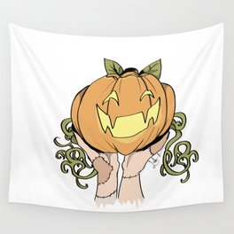 Patchwork Pumpkin Wall Tapestry