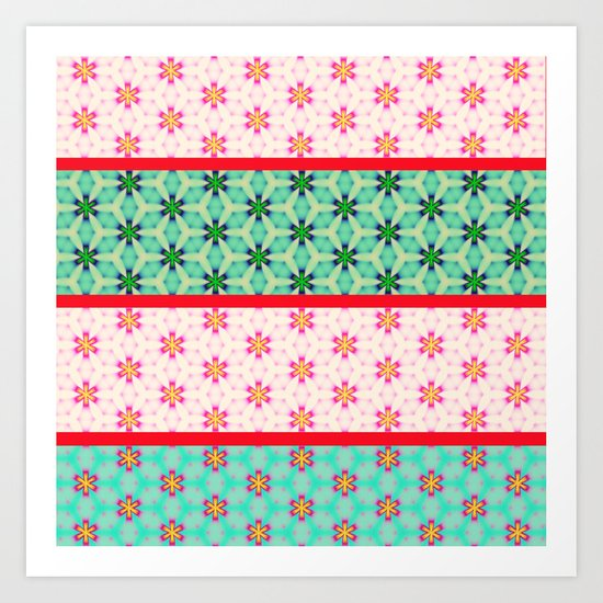 strip pattern Art Print