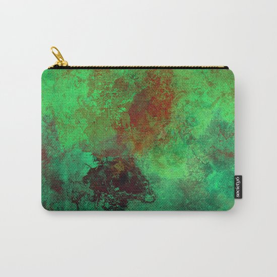 Isolation - Abstract, textured painting Carry-All Pouch