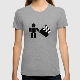 Pictogram holding a movie clapperboard T-shirt