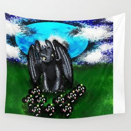 Curious Toothless  Wall Tapestry