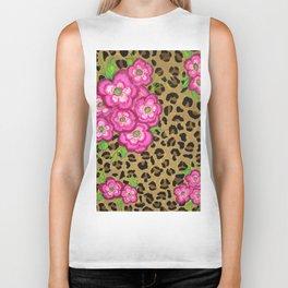 Floral leopard print Biker Tank