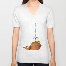 i am a happy whale Unisex V-Neck