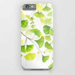 Ginkgo Watercolor  iPhone Case