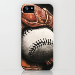 Baseball and Glove iPhone Case