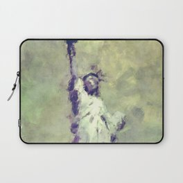 Textured Statue of Liberty Laptop Sleeve