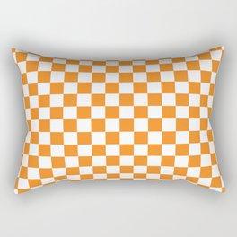 Orange Checkerboard Pattern Rectangular Pillow