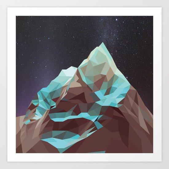 Night Mountains No. 5 Art Print
