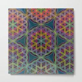 The Flower of Life (Sacred Geometry) 5 Metal Print