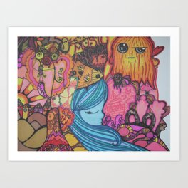 colorful happiness Art Print