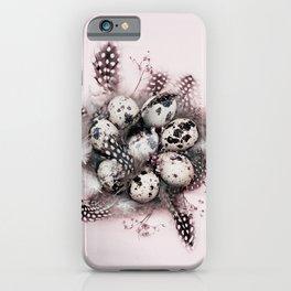 Quail eggs iPhone Case