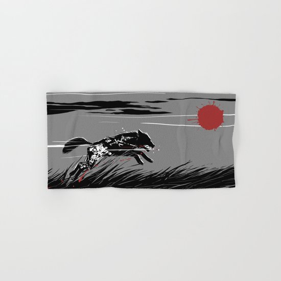 Mecha Wolf Hand & Bath Towel