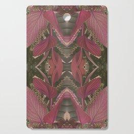 Red Shiso Warm Tones Pattern Cutting Board