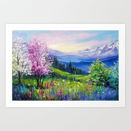 Spring in the Alps Art Print