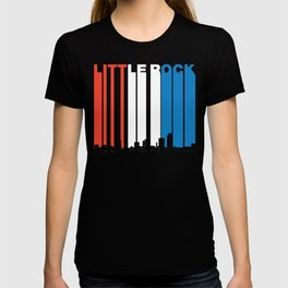 Red White And Blue Little Rock Arkansas Skyline T-shirt