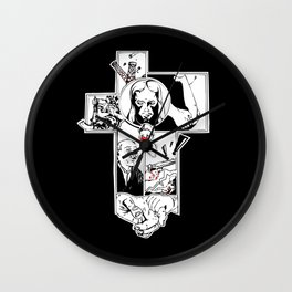 Comics cross Wall Clock
