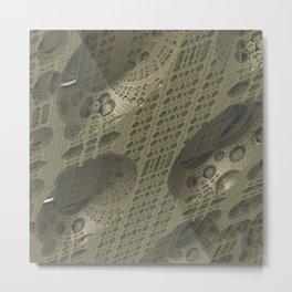 Fractal Cube Tech Metal Print