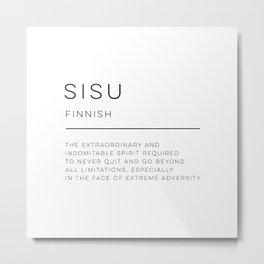 Sisu Definition Metal Print