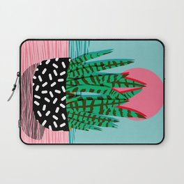 Edgy - wacka potted indoor house plant hipster retro throwback minimal 1980s 80s neon pop art Laptop Sleeve