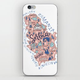 Map of Serbia iPhone Skin