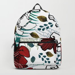 Wild Red Flowers Backpack
