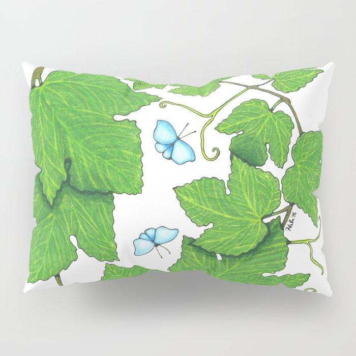 Grape Leaves Pillow Sham