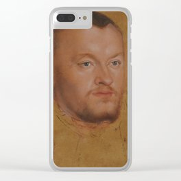 Lucas Cranach the Younger, 'Duke August of Saxony', approx. 1545 Clear iPhone Case