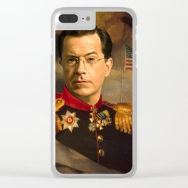 Stephen Colbert 19th Century Classical Painting Clear iPhone Case
