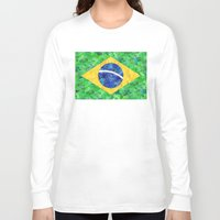 brasil Long Sleeve T-shirts featuring BRASIL em progresso by Bianca Green