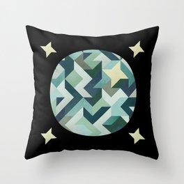circle geometry (Black Background) Throw Pillow