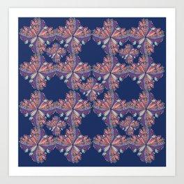 Flow Pattern Art Print