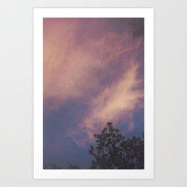 Hazy Sunset Art Print