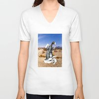 write V-neck T-shirts featuring Don't Forget To Write by Michael Harford