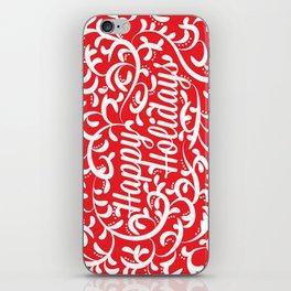 Holiday Swirl iPhone Skin