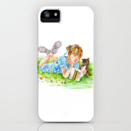 A girl with a kitten vol. 5 iPhone Case