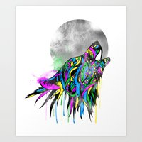 howl Art Prints featuring Howl by Kyle Naylor