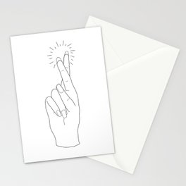 Fingers Crossed Stationery Cards