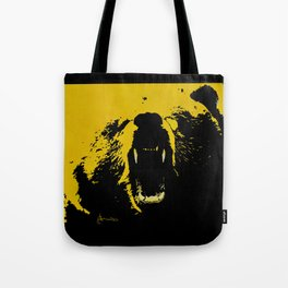 """TygerB.com """"Heated Grizzle"""" Painting Tote Bag"""