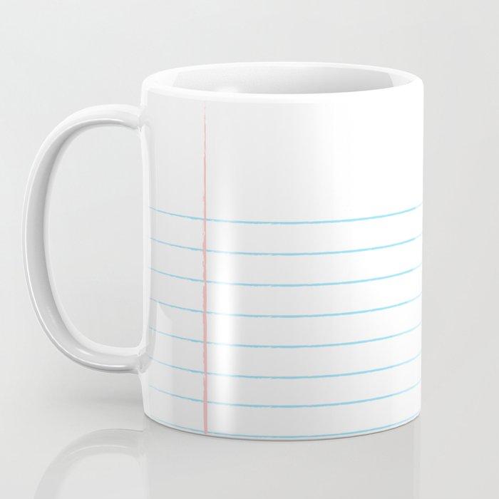 Notebook Paper Digital Watercolor School Chalk Coffee Mug