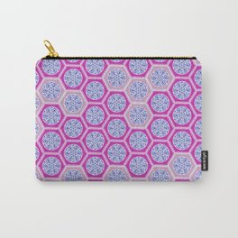 Hexagonal Dreams - Pink & Purple Carry-All Pouch